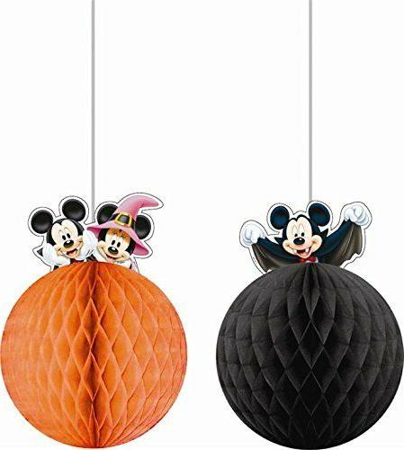 Pack of 2 Disney Mickey Mouse Hanging Decorations - Hallowee