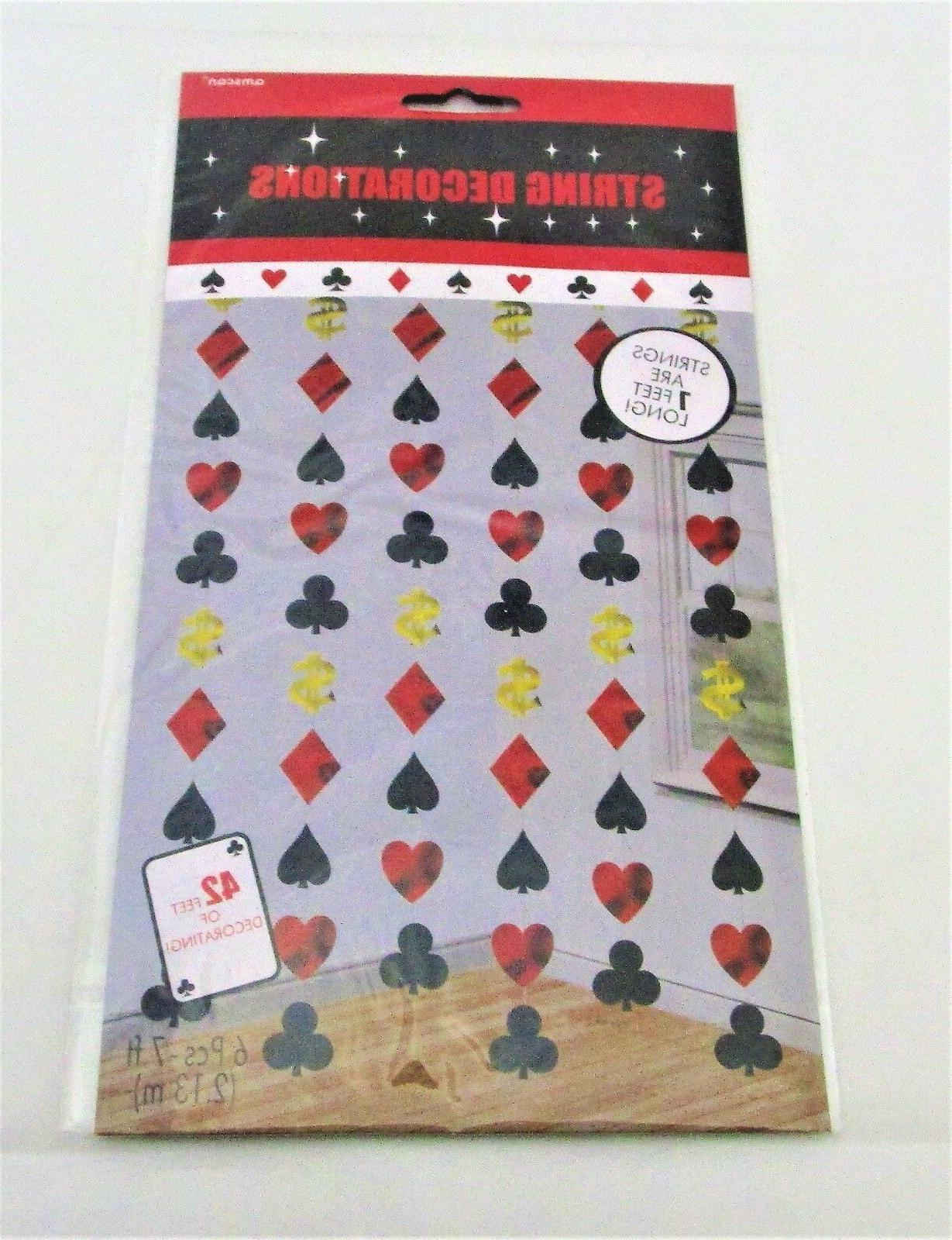 Pack 7ft Las Vegas Theme Decorations Card Suit
