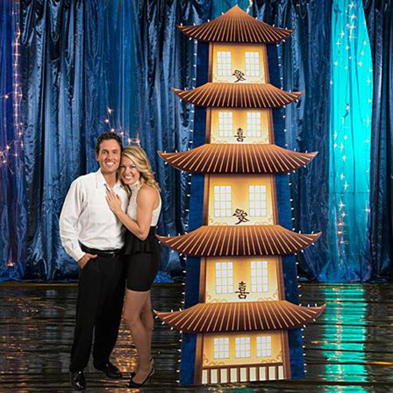 pagoda lighted cardboard cutout standup standee poster