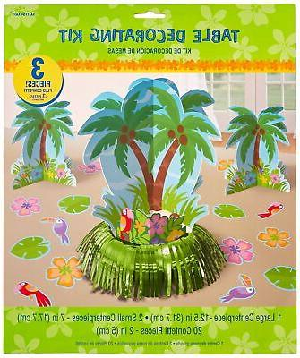 palm tree party table decorating kit
