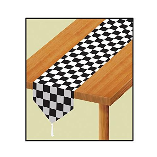 Beistle Party Decoration Accessory Printed Checkered Table Runner