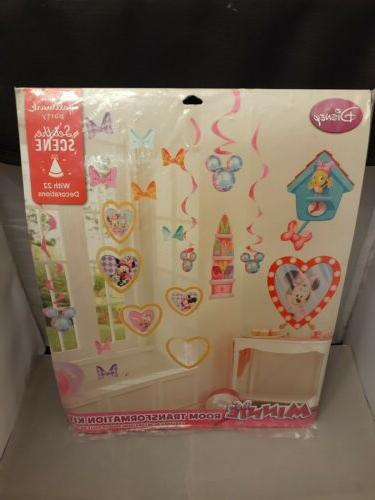 party decorative minnie mouse room transformation kit