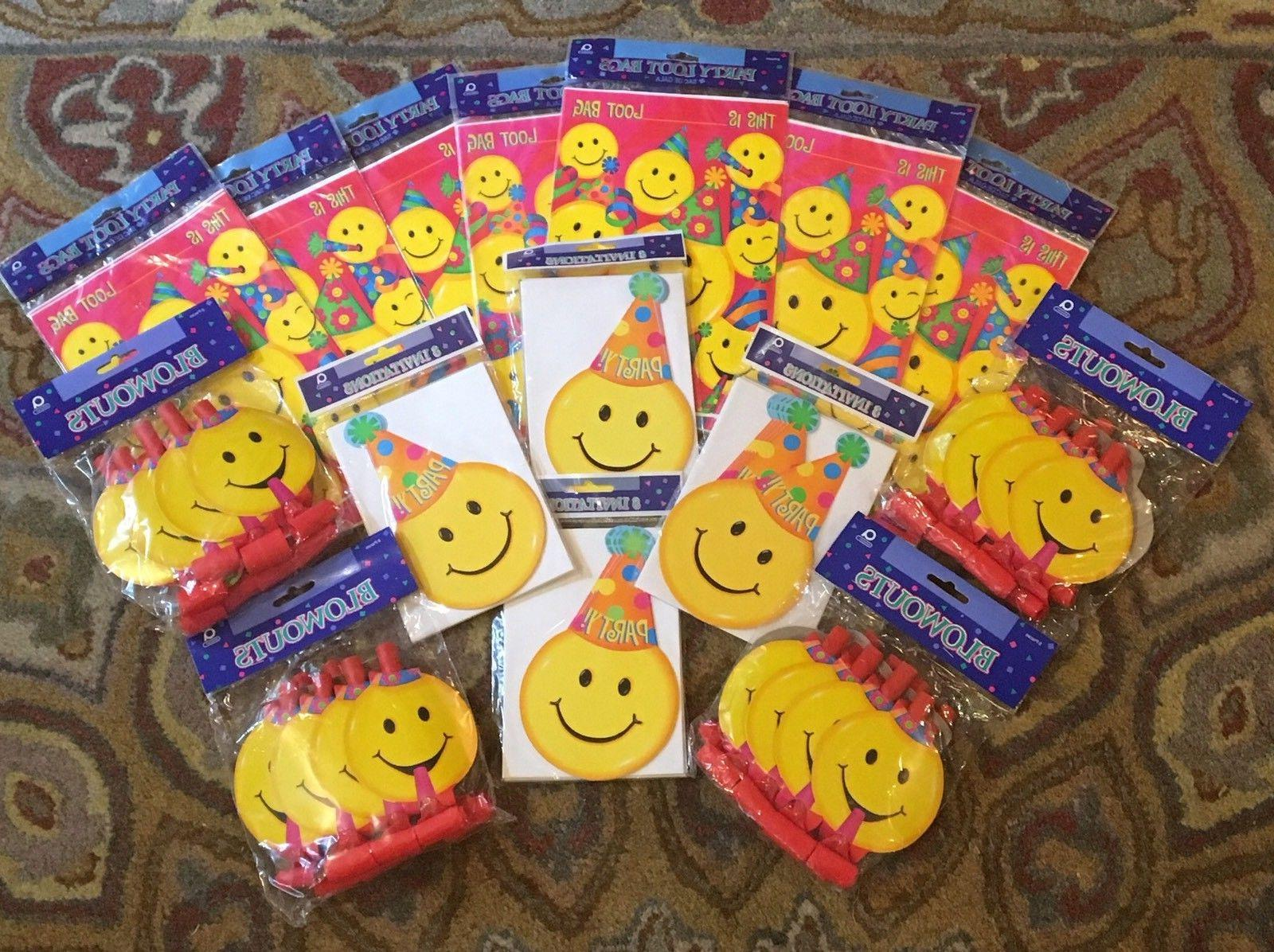 Amscan Party Supplies Decorations Happy Smiley Face Emoji In