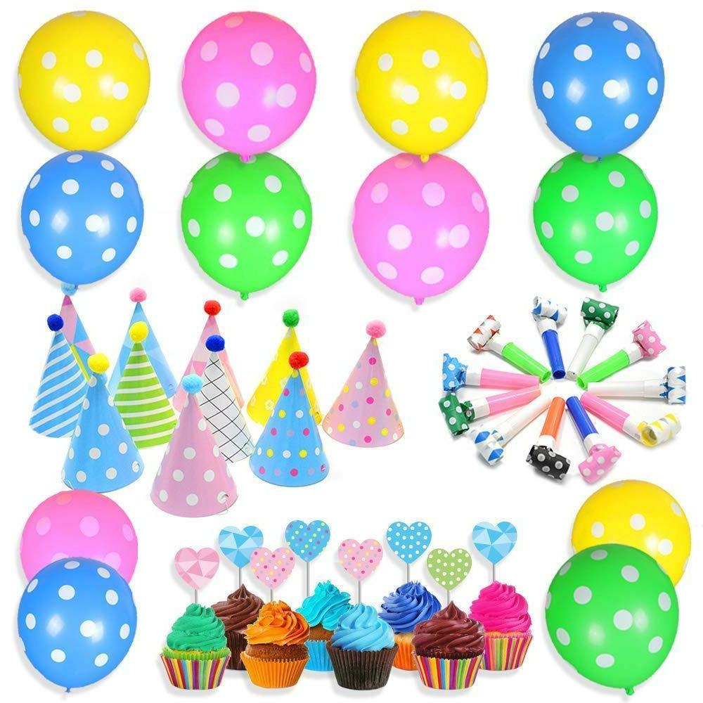 Party Supplies kit for Kids Birthday Party Decorations + 24