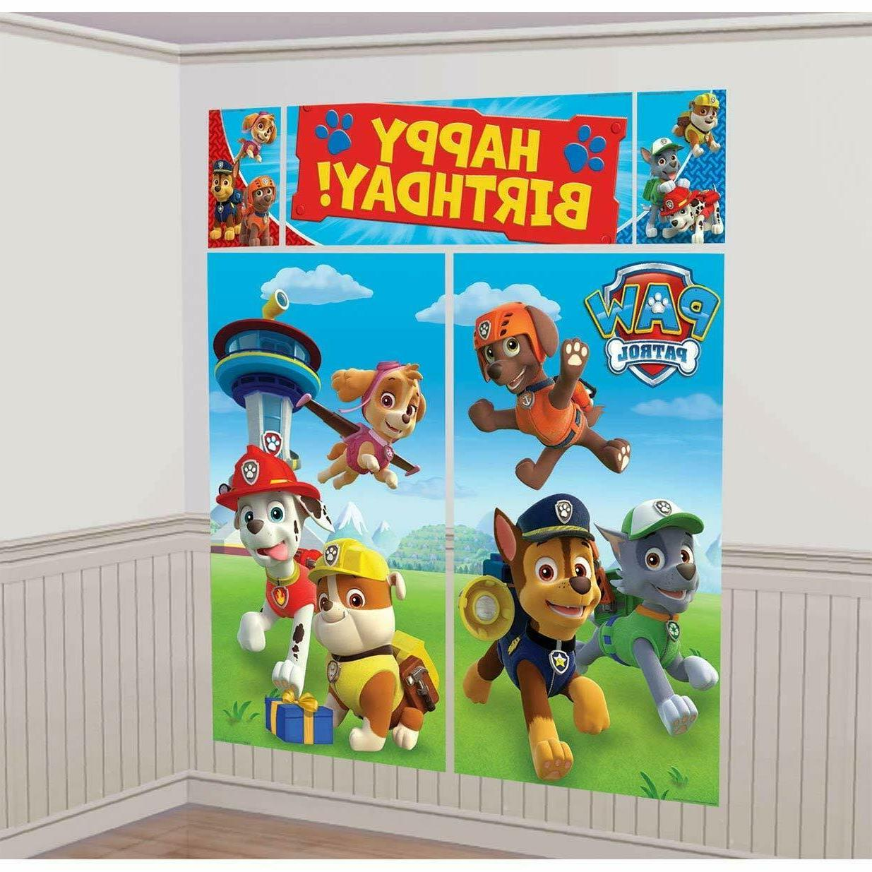paw patrol birthday scene setter wall party