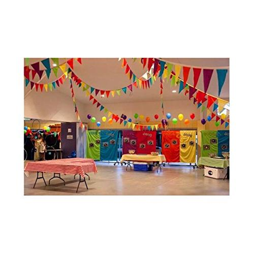 Adorox 100 Foot Multicolor Pennant Banner Birthday Decorations Weather
