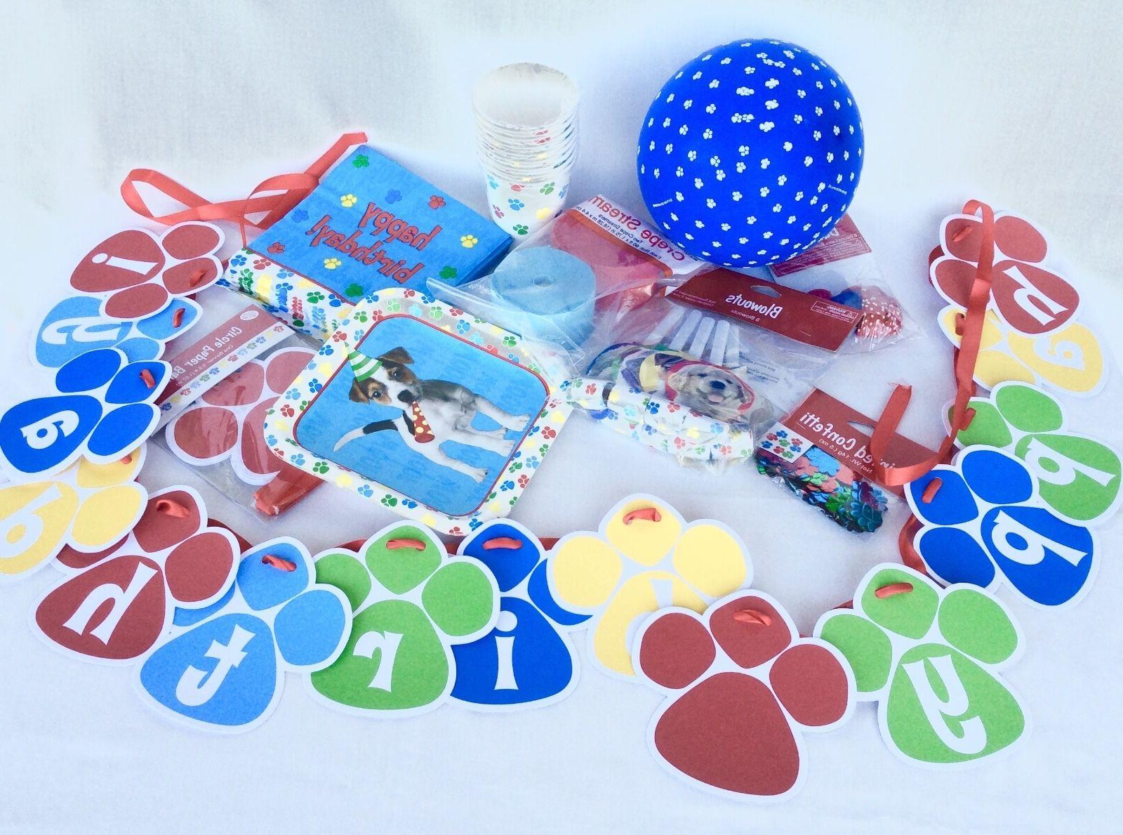 Pet Birthday Party Paw Print Child Birthday Party U Choose