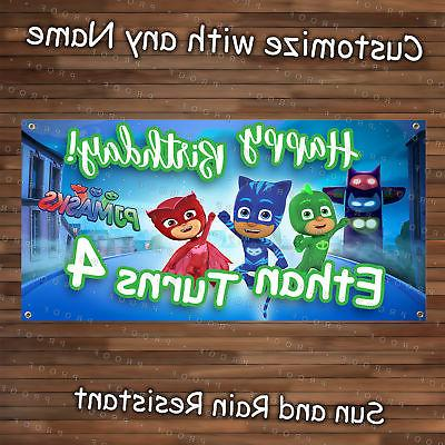 PJ Birthday Banner Party Customize it ! KID