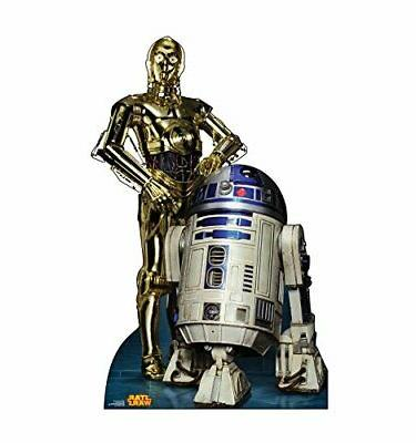 r2d2 and c3po life size cardboard cutout