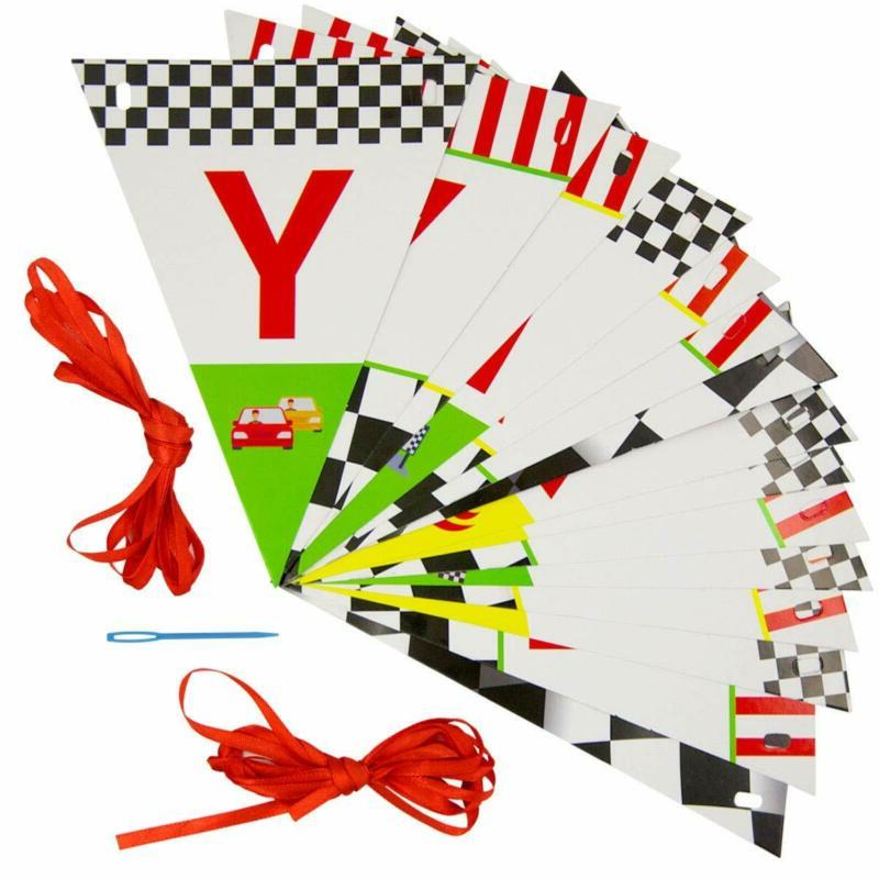 Race Happy Banner Decoration Pennant