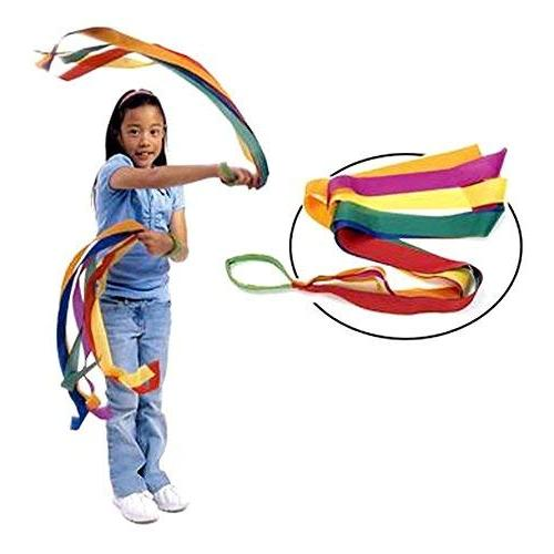 Rainbow Dance Ribbons, 12PCS Rhythm Ribbon for Adults Bright Multi-colored