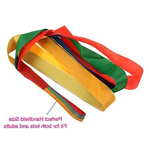 Rainbow Dance Ribbons, 12PCS Rhythm Ribbon Streamers for Baby Adults Bright Multi-colored