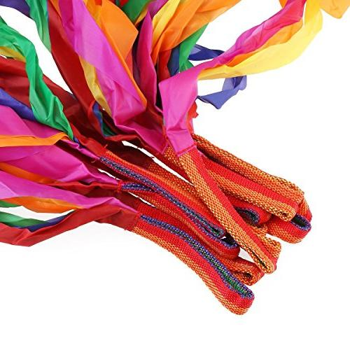 Rainbow Ribbons, 12PCS Ribbon Streamers for Baby Kids Adults Bright & Multi-colored