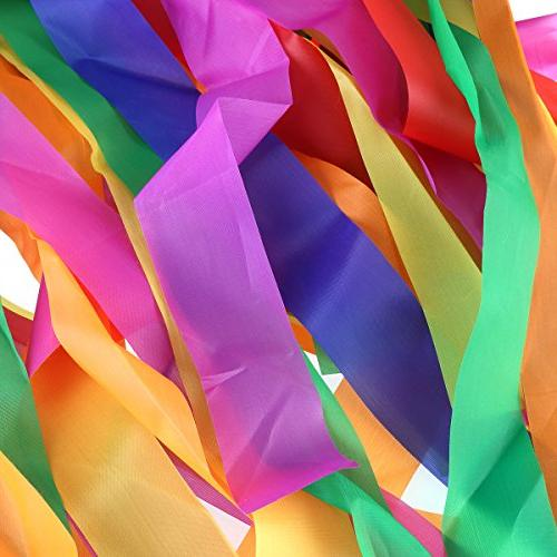 Rainbow Dance Ribbons, 12PCS Rhythm for Children Adults - & Multi-colored