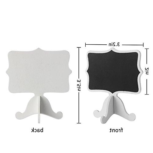 ANPHSIN Mini Chalkboard- for Catering Supplies, Food Labels, Decorations, Numbers for Chalk