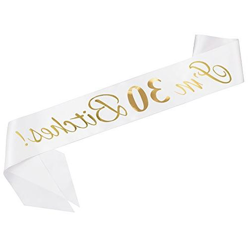 """ADBetty""""I'm 30 Sash 30th Party Gifts for Finally Legal Age Supplies and"""