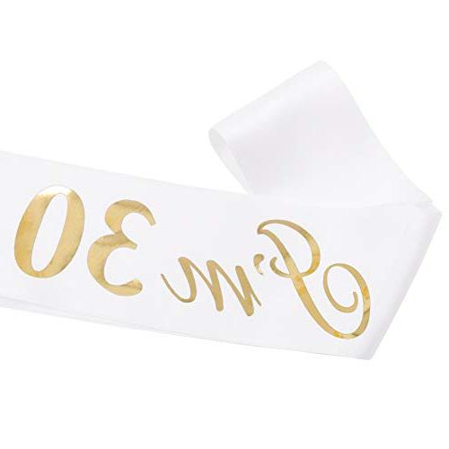 """ADBetty""""I'm Satin Sash 30th Party Finally Legal Age Birthday Party Supplies and"""