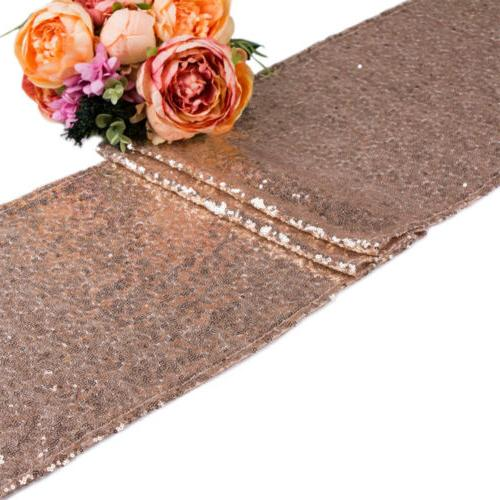 """Sequin Runner Cloth Party Decor 12""""x72''/108""""/118"""""""