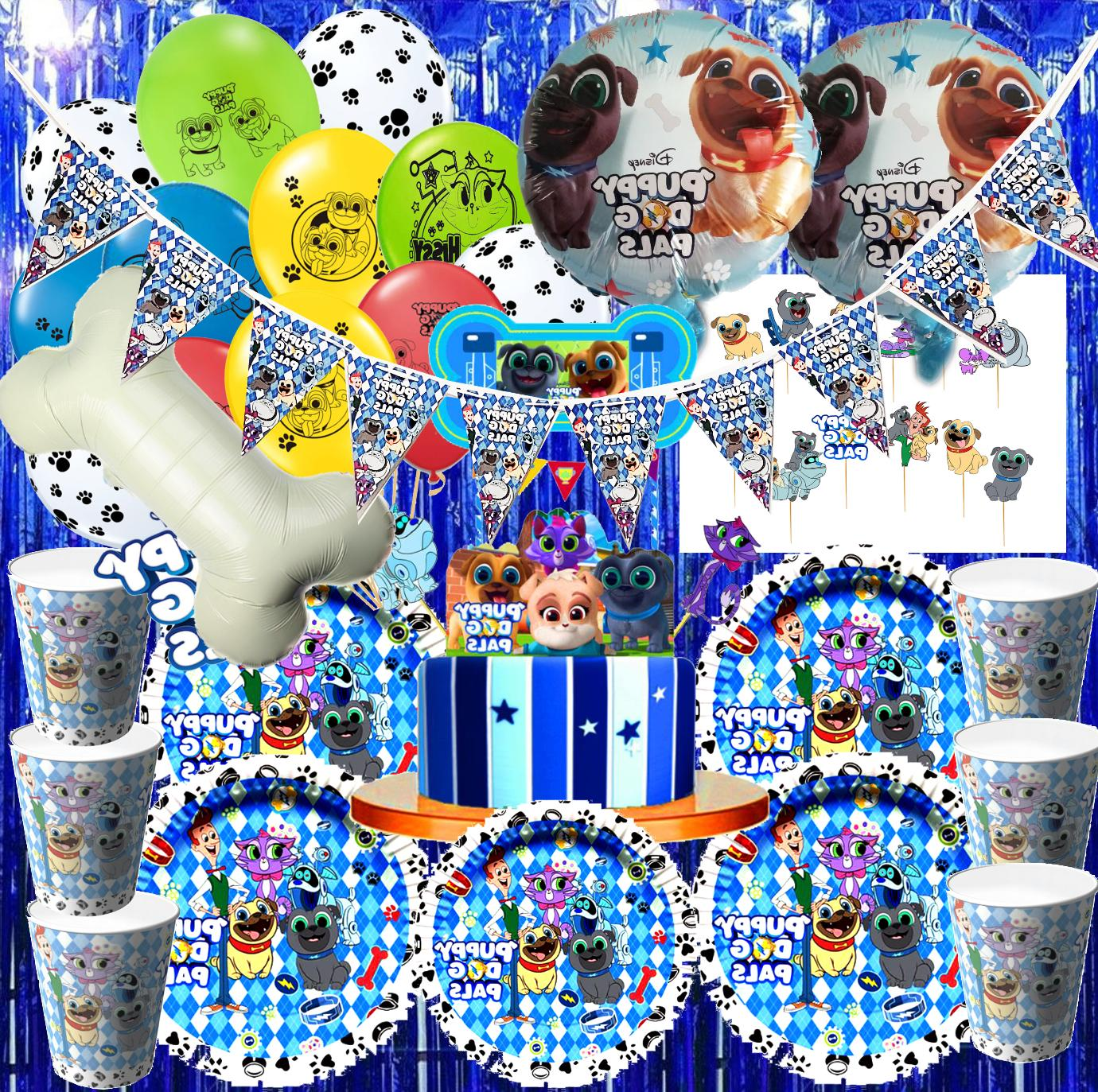 Puppy Dog Pals Party Balloon TABLE COVER Supplies Decoration