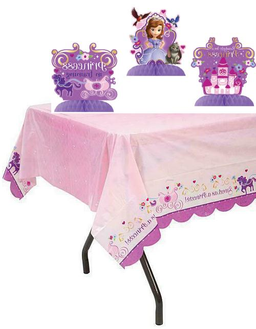 sofia the first tablecover and centerpiece kit