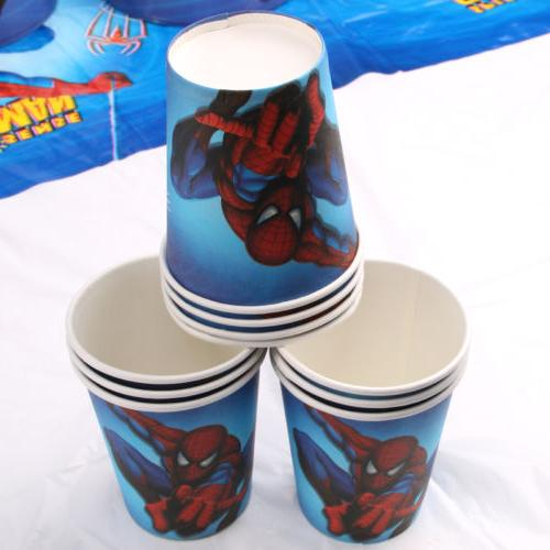 Spiderman Theme Party Supplier Favor Tableware