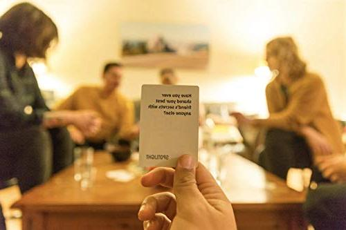 Spotlight Make Parties Fun & | Party Game for Adults | 110 Cards with Creative & Best Question for Drinking