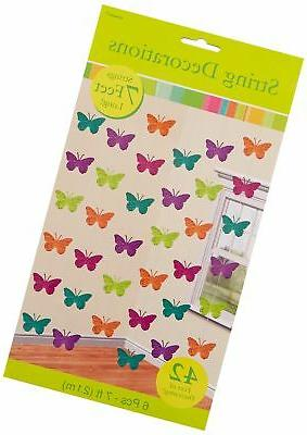 spring butterfly string decoration set