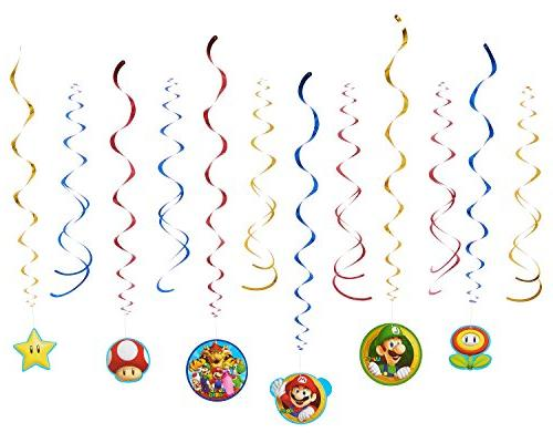 super mario hanging party decorations
