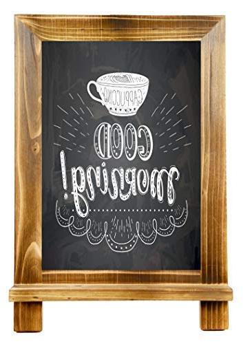 """Tabletop Chalkboard Sign with Marker x 9.5"""" with Rustic Vintage Frame 