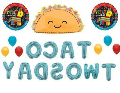 Taco TwosDay 2nd Birthday Party Balloons Decoration Supplies