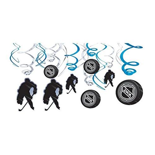 Amscan Sports NHL Swirl Value Paper, Pack of Party