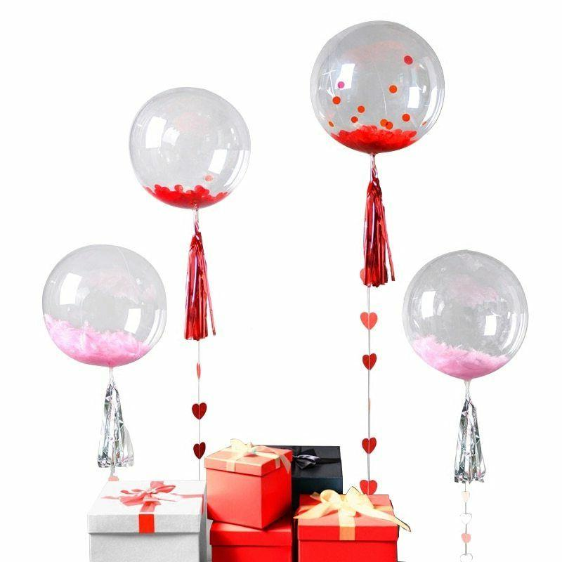 Transparent PVC Bubble Wrinkles Birthday Wedding Party