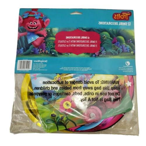 American Greetings Trolls Party Decorations Value PK