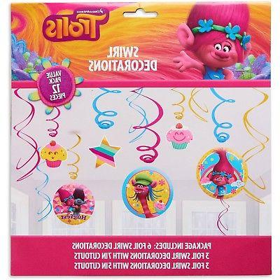 Trolls Poppy Swirl Birthday Party Pack 12