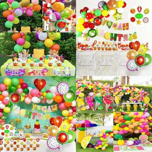 tutti frutti party decorations set for kids