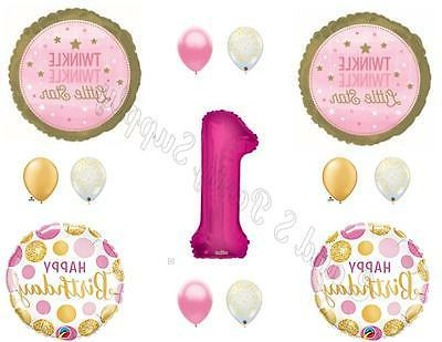 TWINKLE TWINKLE LITTLE STAR Girl 1st Birthday Party Balloons