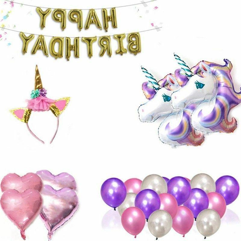 Unicorn Balloons Birthday Supplies for