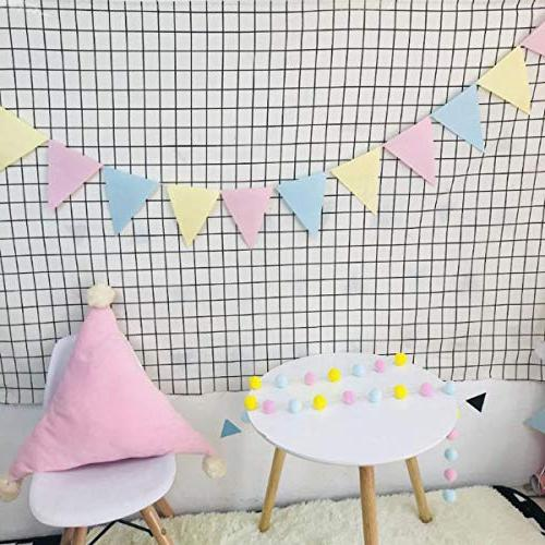Unicorn Decorations, Unicorn Happy Banner, Pennant Pompoms Streamers