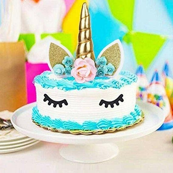 Unicorn Cake Topper Banner Crafted Decorations Supplies