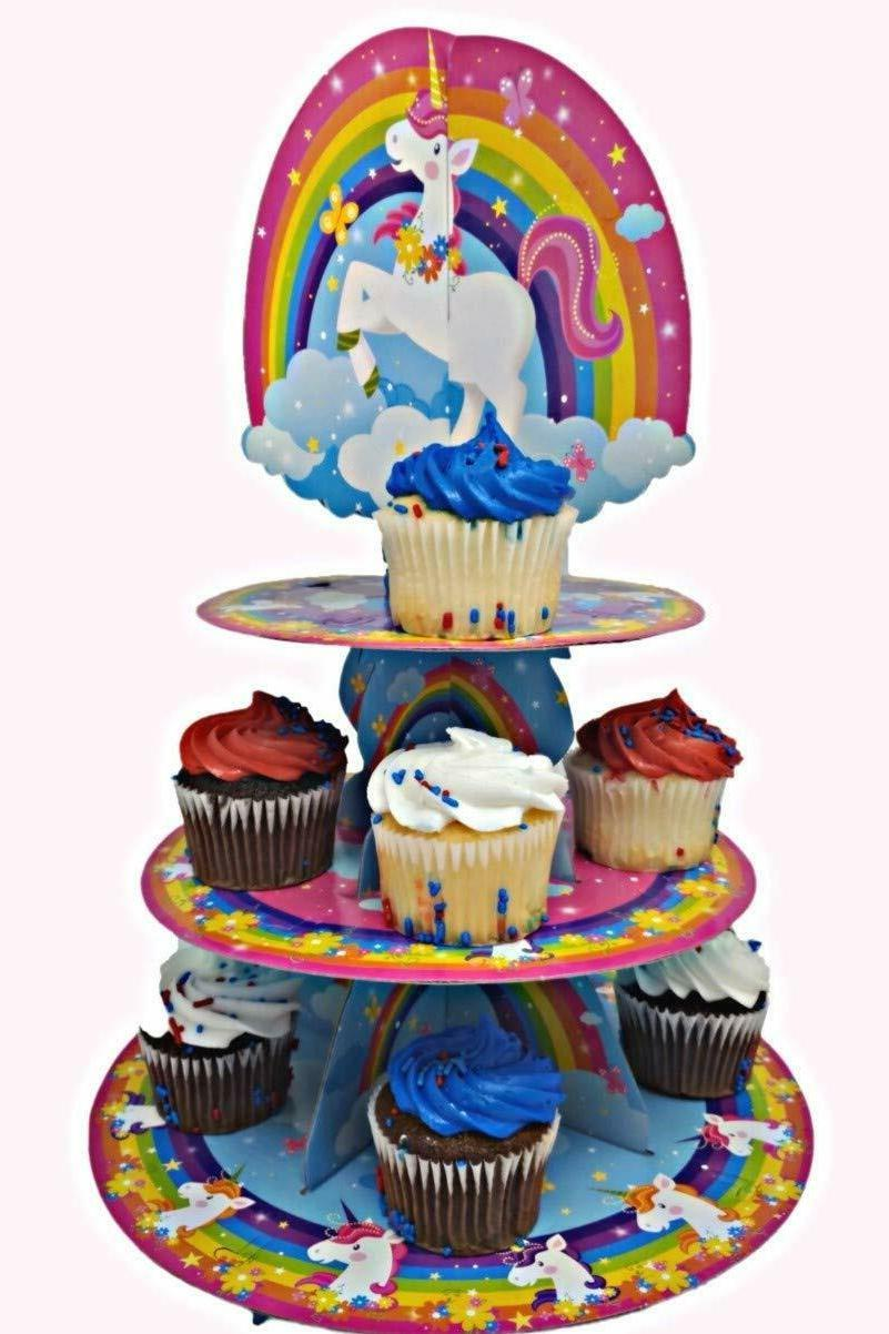 UNICORN CUPCAKE STAND Party Decorations Treat Holder