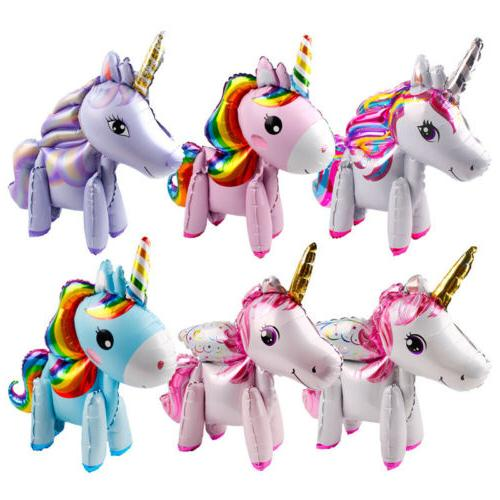 Unicorn Foil Balloons Birthday Party Decor Kids Walking Unic