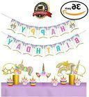 Unicorn Party Supplies, Girls Happy Birthday Kit Decorations