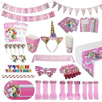unicorn party supplies pack 15 guests