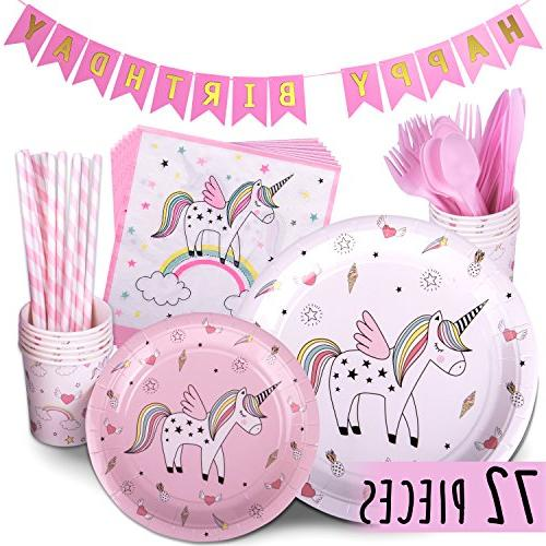 unicorn party supplies rainbow birthday