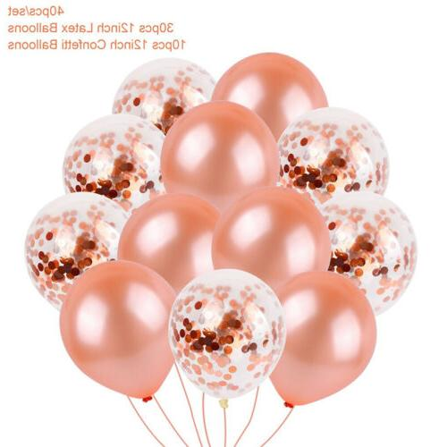 US Rose Gold Confetti Latex Birthday Party Fairy