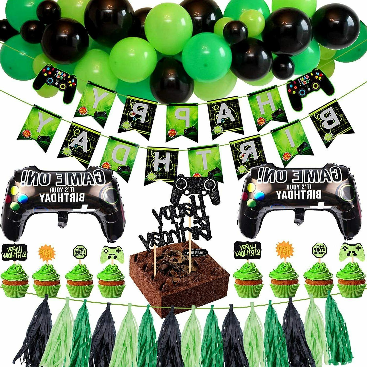 video game birthday party supplies decorations