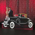 VINTAGE HOLLYWOOD CAR STANDEE * party / prom decorations * c