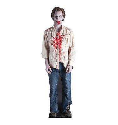 zombie guy lifesize cardboard cutout party decoration