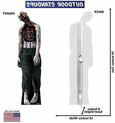Advanced Graphics Zombie Man Life Yard for Outdoor Use