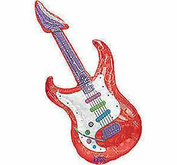 "Large 26"" Guitar Super-Shape Foil Mylar Party Balloon Decora"